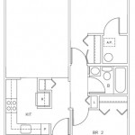 Two Bedroom 724 sq ft